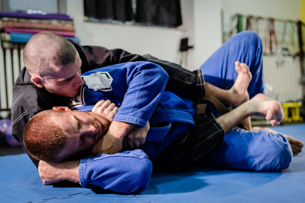 BJJ fighter in back control